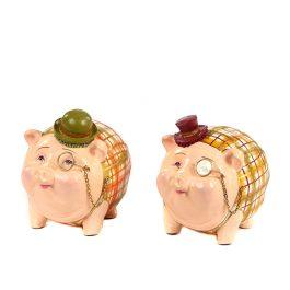 Goodwill Christmas ambiance Gentlemen Piggy Bank creme orange B95167