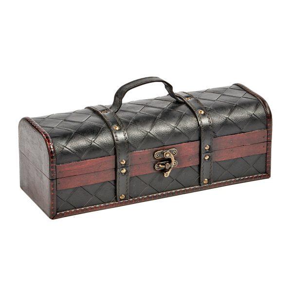 Goodwill Christmas ambiance leather wine bottle box black K10050