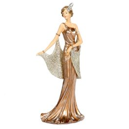 Goodwill Christmas ambiance standing gatsby lady creme copper silver MC33006
